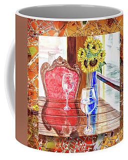 Coffee Mug featuring the painting Italian Cafe  by Irina Sztukowski