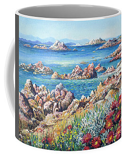 Italian Coastline Coffee Mug by Lou Ann Bagnall