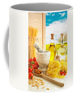 Italian Pasta In Country Kitchen Coffee Mug