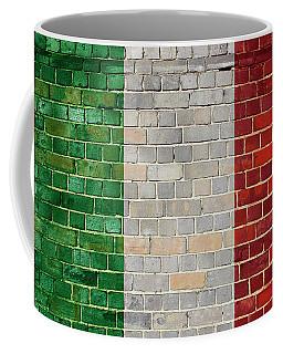 Italy Flag On A Brick Wall Coffee Mug