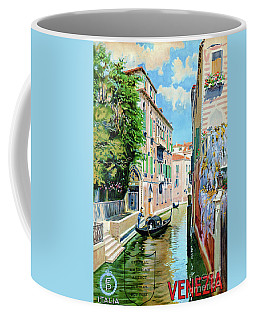 Italy Venice Vintage Travel Poster Restored Coffee Mug
