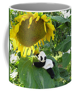 Coffee Mug featuring the photograph It's A Big Sunflower by Ausra Huntington nee Paulauskaite