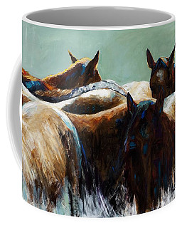 Its All About The Brush Stroke Coffee Mug by Frances Marino