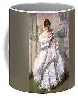 Coffee Mug featuring the digital art It's All About The Dress by Pennie McCracken