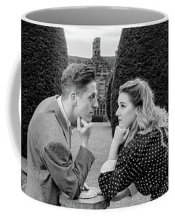 Coffee Mug featuring the photograph It's In The Eyes Bw by Ian Thompson