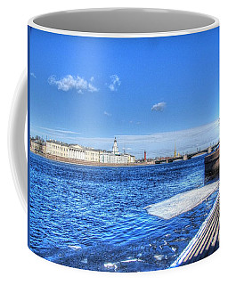 Coffee Mug featuring the pyrography iver St. Petersburg in winter by Yury Bashkin