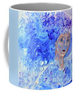 Coffee Mug featuring the painting Jack Frost's Girl by Claire Bull