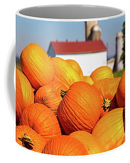 Jack-o-lantern Pumpkins At Farm Coffee Mug