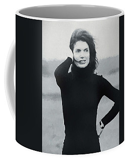 Coffee Mug featuring the painting Jackie Kennedy - Painting by Ericamaxine Price