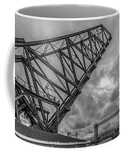 Jackknife Bridge To The Clouds B And W Coffee Mug