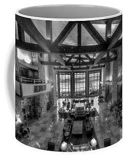 Jackson Lake Lodge Grand Tetons B W Coffee Mug