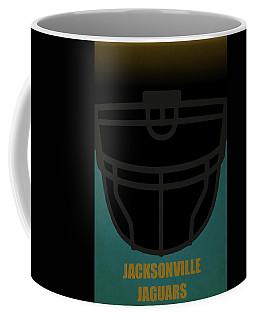Jacksonville Jaguars Helmet Art Coffee Mug