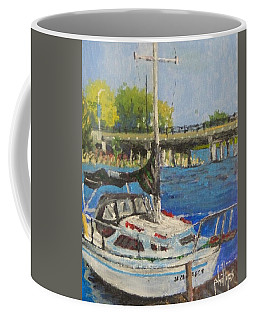 Coffee Mug featuring the painting Jacksonville Marina by Jim Phillips