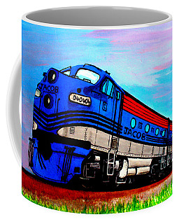 Coffee Mug featuring the painting Jacob The Train by Pjohn Artman