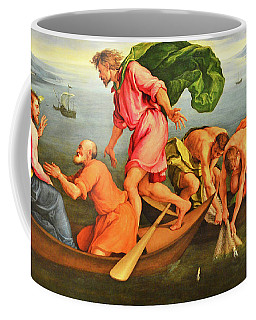 Coffee Mug featuring the photograph Jacopo Bassano Fishes Miracle by Munir Alawi