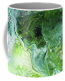Jade- Abstract Art By Linda Woods Coffee Mug