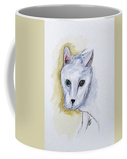 Coffee Mug featuring the painting Jade The Cat by Clyde J Kell