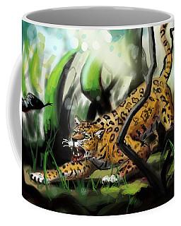 Jaguar And Boa Coffee Mug