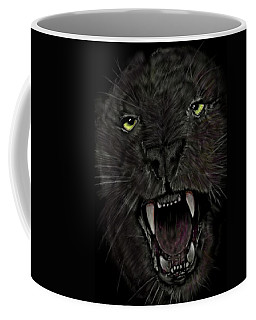 Coffee Mug featuring the digital art Jaguar by Darren Cannell