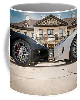 Jaguar F-type - Black And White Coffee Mug