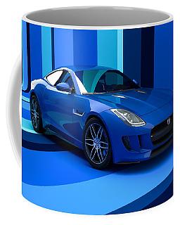 Jaguar F-type - Blue Retro Coffee Mug