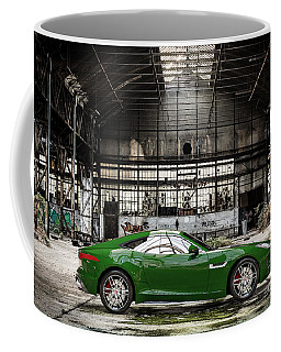 Jaguar F-type - British Racing Green - Side View Coffee Mug
