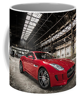 Jaguar F-type - Red - Front View Coffee Mug
