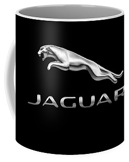 Coffee Mug featuring the photograph Jaguar Logo by Ericamaxine Price