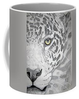Coffee Mug featuring the drawing Jaguar by Mayhem Mediums