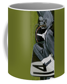 Coffee Mug featuring the photograph Jaguar Racing Car Smart Phone Case by John Colley