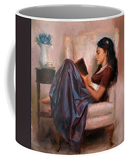 Jaidyn Reading A Book 2 - Portrait Of Woman Coffee Mug