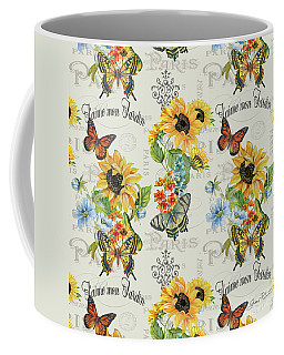 Coffee Mug featuring the painting Jaime Mon Jardin-jp3989 by Jean Plout