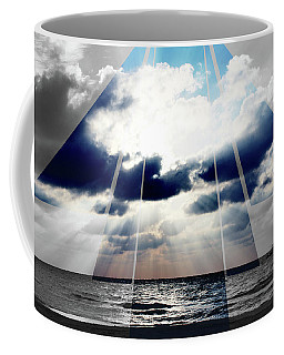Jamaica Sunset Art Deco Bw With Color Coffee Mug