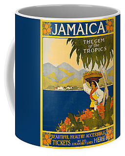 Jamaica  Vintage Travel Poster Coffee Mug