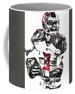 Coffee Mug featuring the mixed media Jameis Winston Tampa Bay Buccaneers Pixel Art by Joe Hamilton