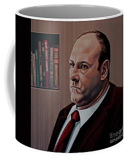 James Gandolfini Painting Coffee Mug by Paul Meijering