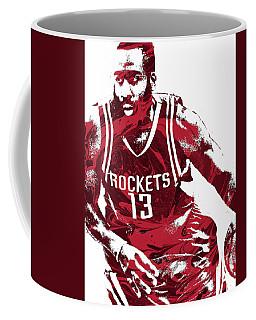 James Harden Houston Rockets Pixel Art 3 Coffee Mug