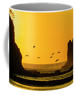 James Island And Pelicans Coffee Mug