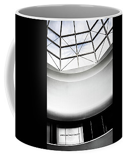 James Watrous Gallery Sign Below The Glass Dome Of The Overture Center Coffee Mug