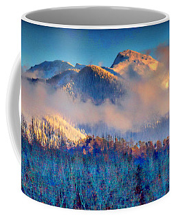 January Evening Truchas Peak Coffee Mug by Anastasia Savage Ealy