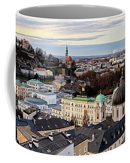 Coffee Mug featuring the photograph January - Salzburg Austria by Shirley Mitchell