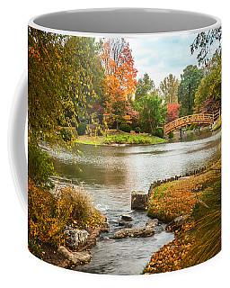Japanese Garden Bridge Fall Coffee Mug