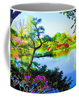 Japanese Garden In Spring Coffee Mug
