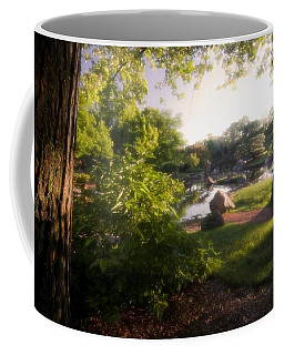 Japanese Garden In The Morning Coffee Mug