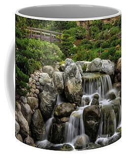 Japanese Garden Waterfalls Coffee Mug