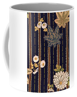 Japanese Maple And Chrysanthemum Modern Interior Art Painting. Coffee Mug