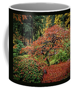 Coffee Mug featuring the photograph Japanese Maple At The Japanese Gardens Portland by Thom Zehrfeld