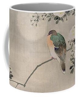 Japanese Silk Painting Of A Wood Pigeon Coffee Mug