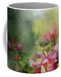Japanese White-eye On A Blooming Tree Coffee Mug
