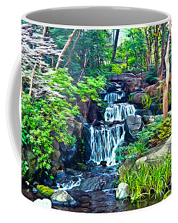 Japanese Waterfall Garden Coffee Mug